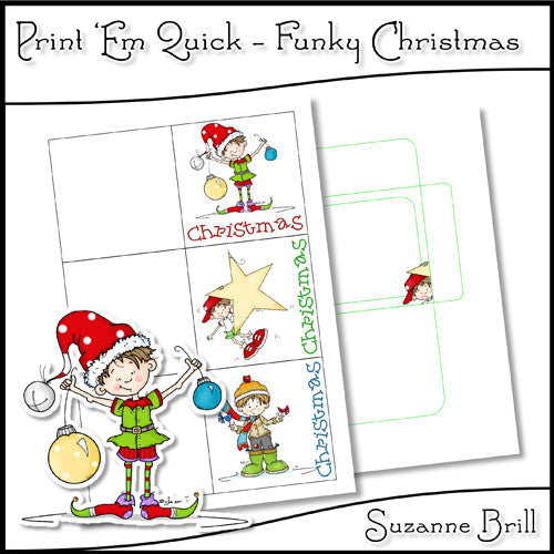 Print 'Em Quick - Funky Christmas - The Printable Craft Shop