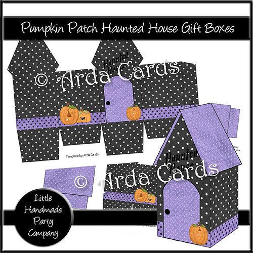 Pumpkin Patch Haunted House Gift Boxes - The Printable Craft Shop