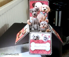Load image into Gallery viewer, Puppy Love Printable Pop Up Box Card