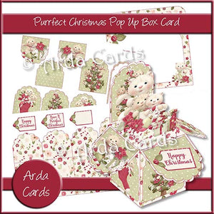 Purrfect Christmas Pop Up Box Card