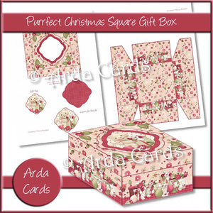 Purrfect Christmas Square Gift Box