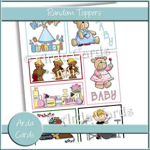 Random Toppers - The Printable Craft Shop