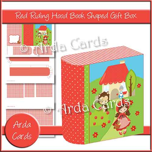 Red Riding Hood Book Shaped Gift Book