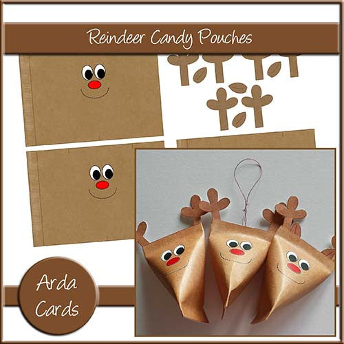 Reindeer Candy Pouches - The Printable Craft Shop
