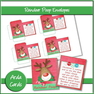 Reindeer Poop Envelopes - The Printable Craft Shop