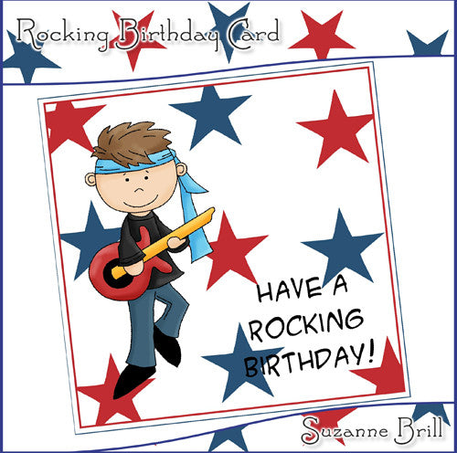 Rocking Birthday Card - The Printable Craft Shop