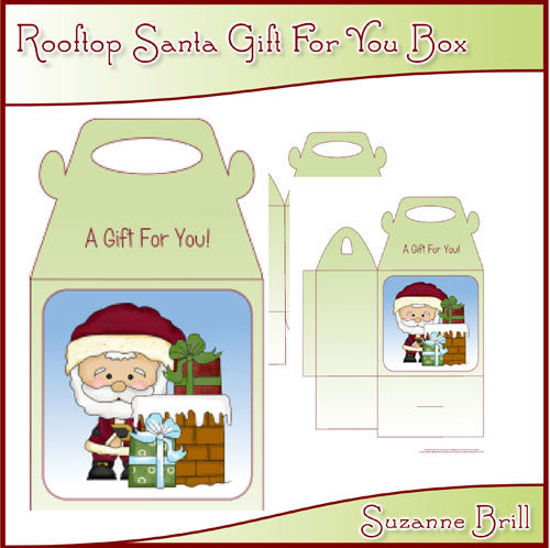Rooftop Santa Gift For You Box - The Printable Craft Shop