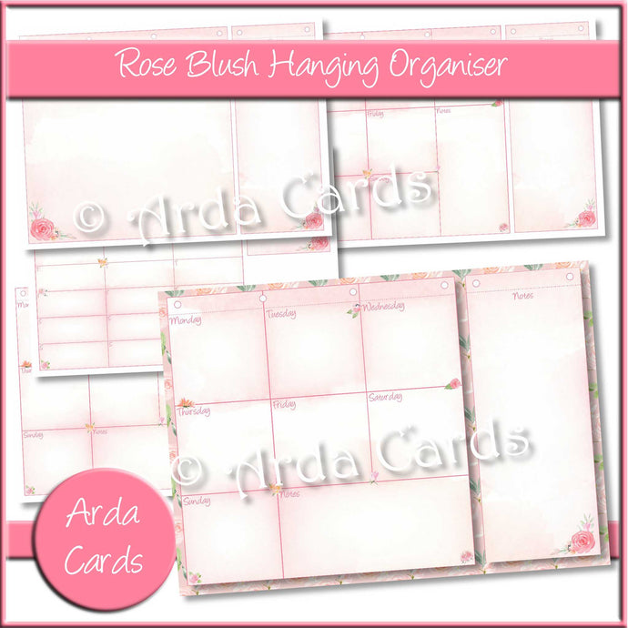 Rose Blush Hanging Organiser