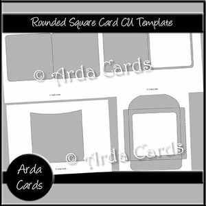 Rounded Square Card CU Template - The Printable Craft Shop
