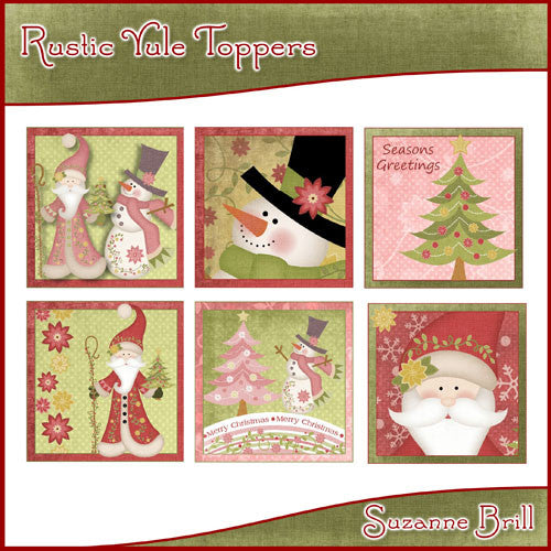 Rustic Yule Toppers - The Printable Craft Shop