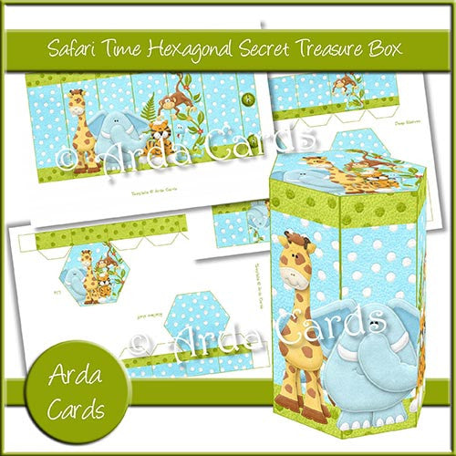 Safari Time Hexagonal Secret Treasure Box - The Printable Craft Shop