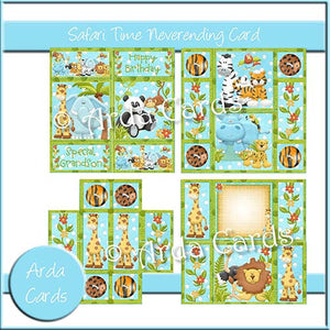 Safari Time Neverending Card - The Printable Craft Shop