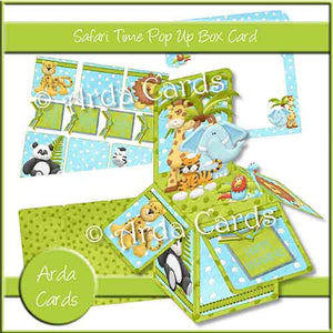 Safari Time Pop Up Box Card