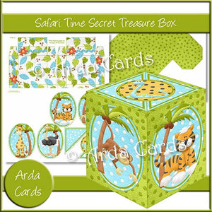 Safari Time Secret Treasure Box - The Printable Craft Shop