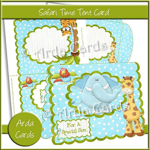 Safari Time Tent Card - The Printable Craft Shop