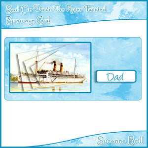 Sail Me Down The River Twisted Pyramage Card - The Printable Craft Shop