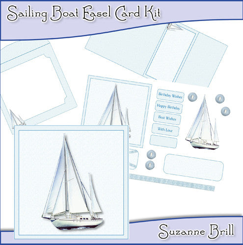 Sailing Boat Easel Card Kit - The Printable Craft Shop
