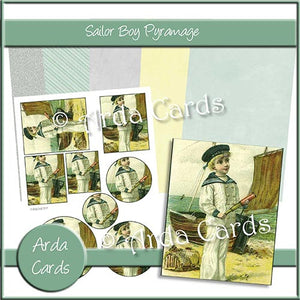 Sailor Boy Pyramage Set - The Printable Craft Shop