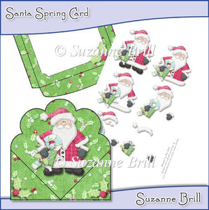 Santa Spring Card - The Printable Craft Shop