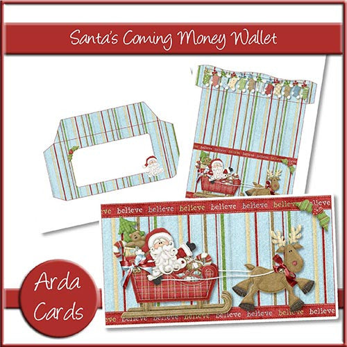 Santa's Coming Money Wallet - The Printable Craft Shop