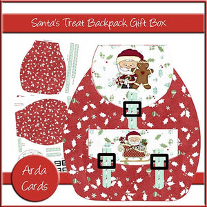 Santa's Treat Backpack Gift Box - The Printable Craft Shop