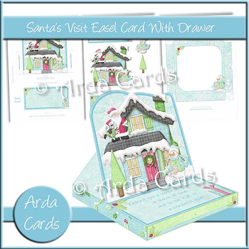 Santa's Visit Easel Card With Drawer