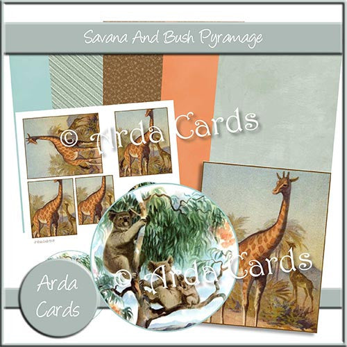 Savanna And Bush Pramage Set - The Printable Craft Shop