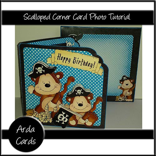 Scalloped Corner Card Photo Tutorial - The Printable Craft Shop