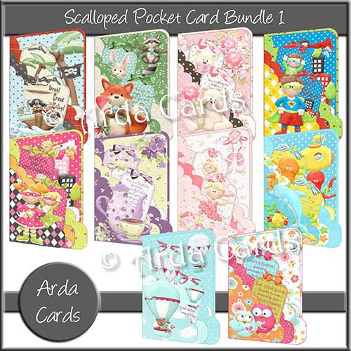 Scalloped Pocket Card Bundle 1
