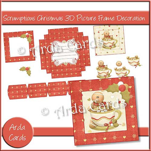 Scrumptious Christmas 3D Picture Frame Printable Decoration - The Printable Craft Shop