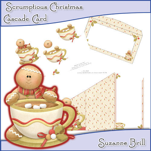 Scrumptious Christmas Cascade Card - The Printable Craft Shop