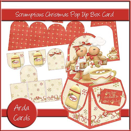 Scrumptious Christmas Pop Up Box Card - The Printable Craft Shop
