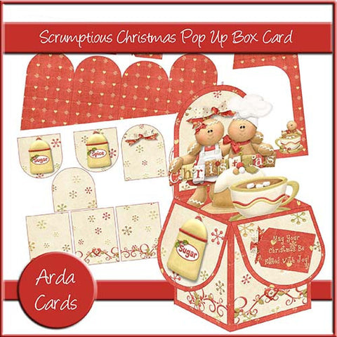 Scrumptious Christmas Pop Up Box Card
