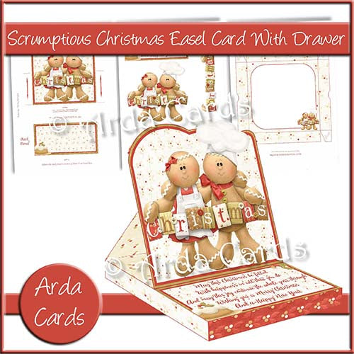 Scrumptious Christmas Easel Card With Drawer