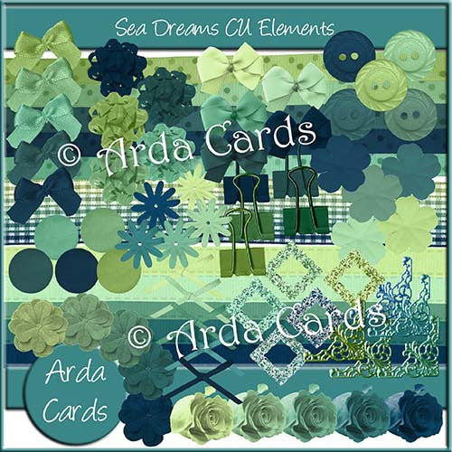 Sea Dreams CU Elements - The Printable Craft Shop