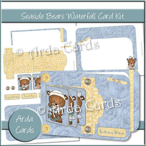 Seaside Bears Waterfall Card Kit - The Printable Craft Shop