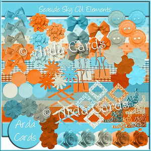 Seaside Sky CU Elements - The Printable Craft Shop