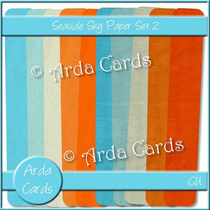 Seaside Sky Paper Set 2 - The Printable Craft Shop