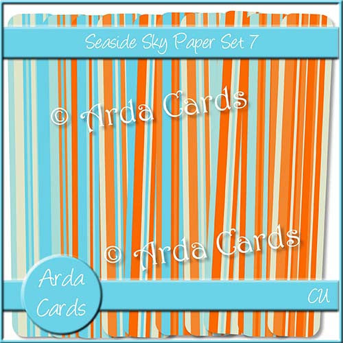 Seaside Sky Paper Set 7 - The Printable Craft Shop