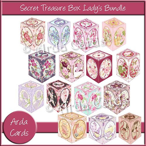 Secret Treasure Box Lady's Bundle - The Printable Craft Shop