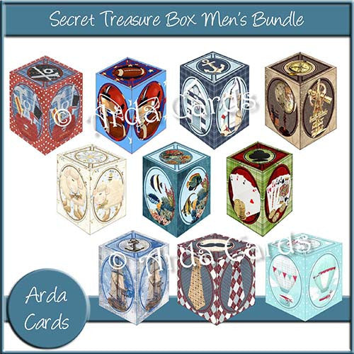 Secret Treasure Box Men's Bundle - The Printable Craft Shop