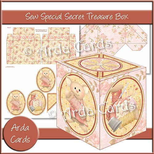 Sew Special Secret Treasure Box - The Printable Craft Shop