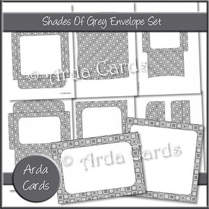 Shades Of Grey Envelope Set - The Printable Craft Shop