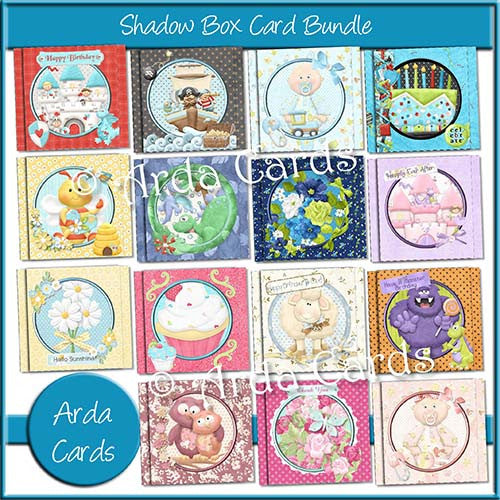 Shadow Box Card Bundle - The Printable Craft Shop