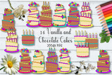 Load image into Gallery viewer, Sherbet Dip Cakes CU Clipart