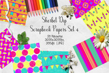 Load image into Gallery viewer, Sherbet Dip CU Scrapbook Papers Set 4