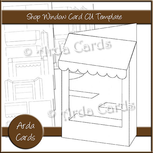 Shop Window Card CU Template