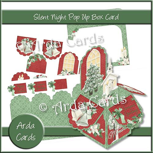 Silent Night Pop Up Box Card