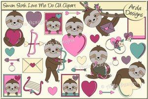 Simon Sloth Love Me Do CU Clipart