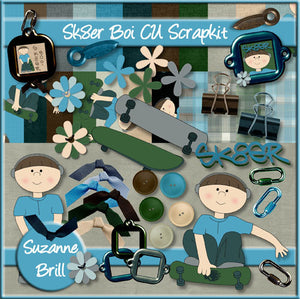 Sk8er Boi CU Scrapkit - The Printable Craft Shop